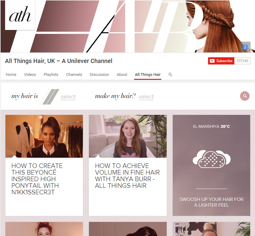 All Things Hair channel