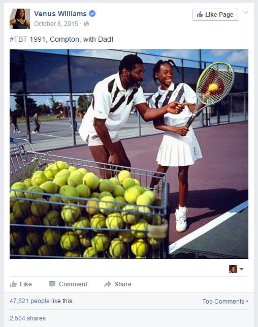 Venus Williams TBT